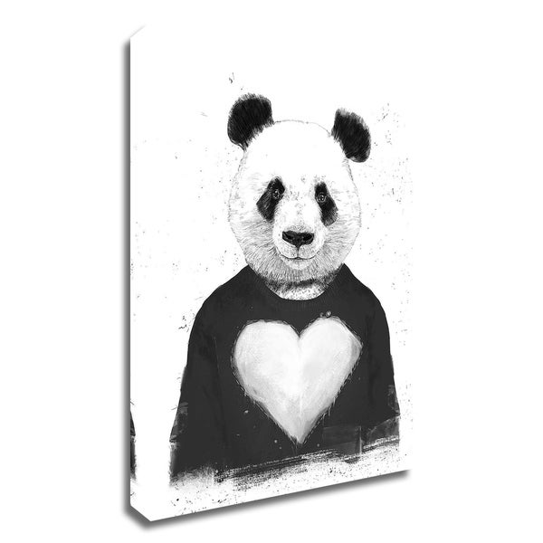 """""""Lovely Panda"""" by Balazs Solti, Print on Canvas, Ready to Hang"""