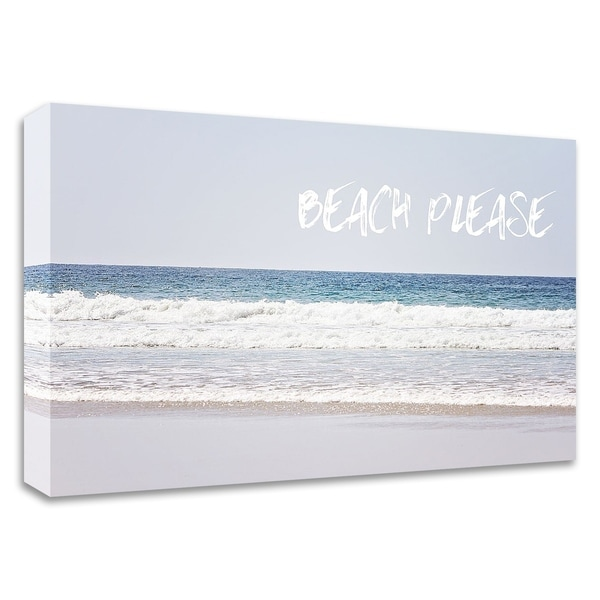 "Shop ""Beach Please"" By Sylvia Coomes, Print On Canvas"