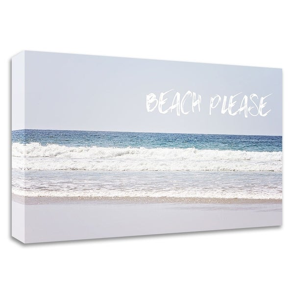 """Beach Please"" by Sylvia Coomes, Print on Canvas, Ready to Hang"
