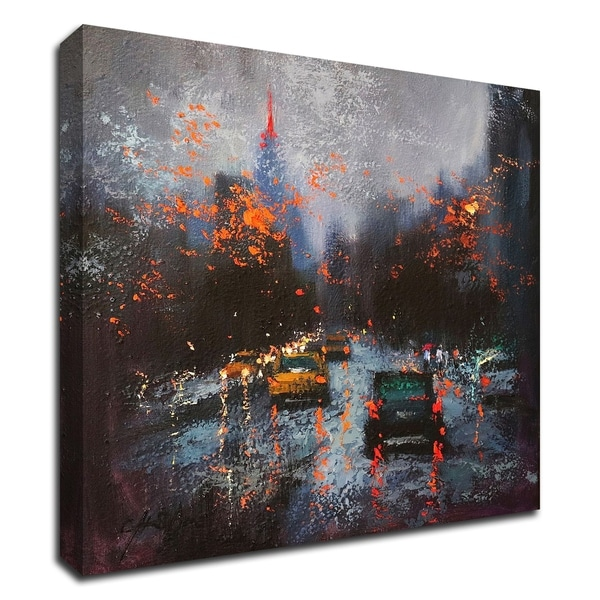 """""""New York on a Stormy Day"""" by Chin H. Shin, Print on Canvas, Ready to Hang"""