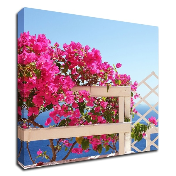 """""""Santorini Blooms"""" by Sylvia Coomes, Print on Canvas, Ready to Hang"""