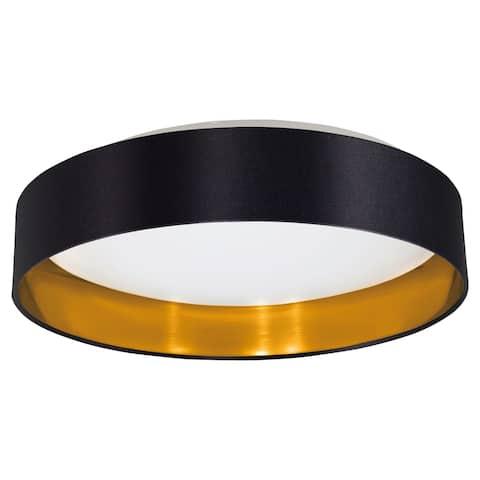 Eglo USA Maserlo Ceiling Light with Black & Gold Finish & White Plastic Diffuser