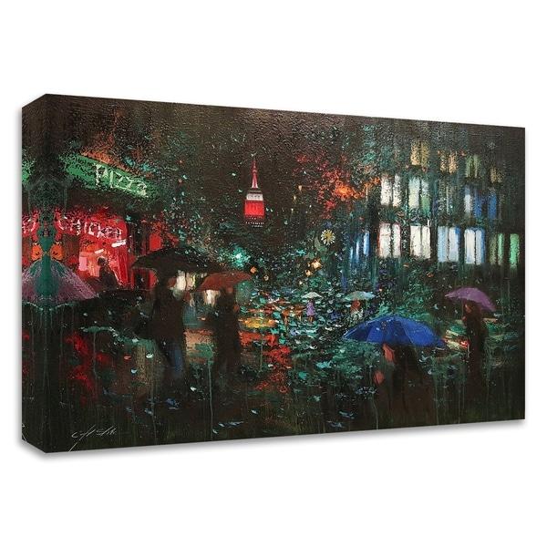 """Night Rain in NY"" by Chin H. Shin, Print on Canvas, Ready to Hang"