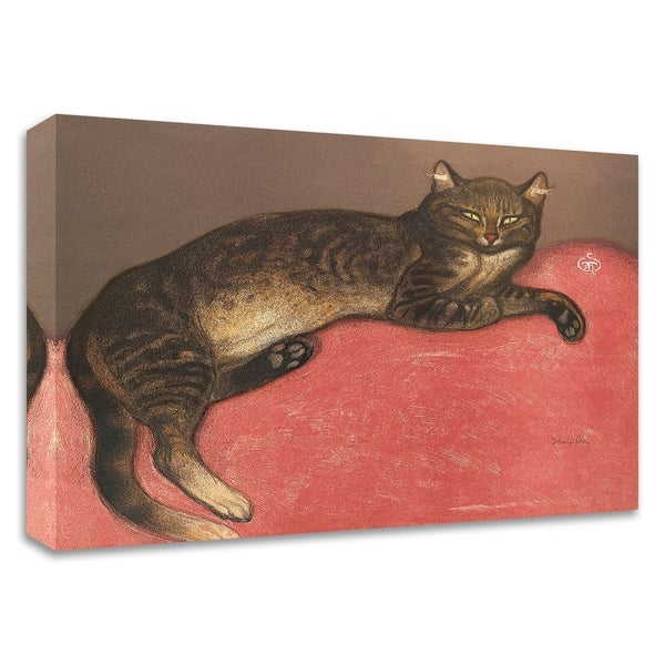"""""""Cat on a Cushion"""" by Théophile-Alexandre Steinlen, Print on Canvas, Ready to Hang"""