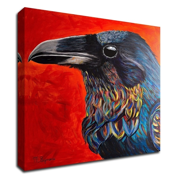 """Glistening Raven"" by Melissa Symons, Print on Canvas, Ready to Hang"