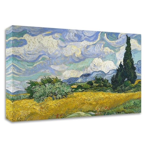 """""""Wheat Field with Cypresses"""" by Vincent Van Gogh, Print on Canvas, Ready to Hang"""