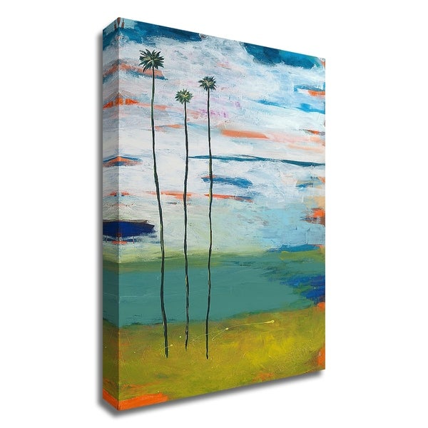 """""""Desert Palms"""" by Jan Weiss, Print on Canvas, Ready to Hang"""