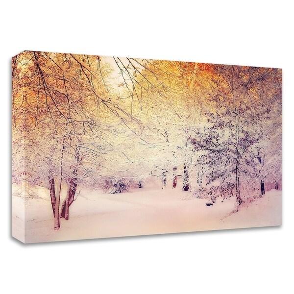 """Snowy Sunrise"" by Dirk Wustenhagen, Print on Canvas, Ready to Hang"