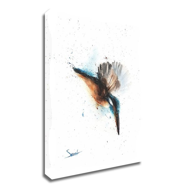 """Kingfisher"" by Eric Sweet, Print on Canvas, Ready to Hang"