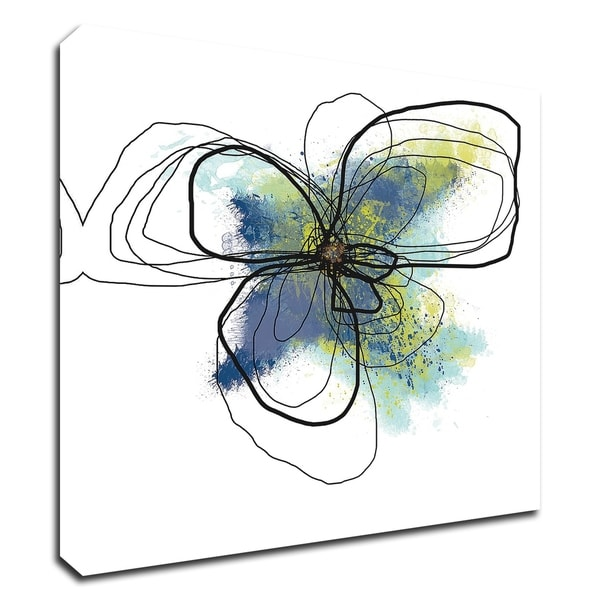 """""""Azure Petals II"""" by Jan Weiss, Print on Canvas, Ready to Hang"""