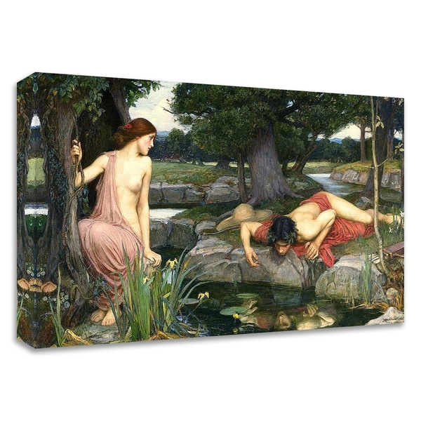 """""""Echo and Narcissus, 1903"""" by John William Waterhouse, Print on Canvas, Ready to Hang"""