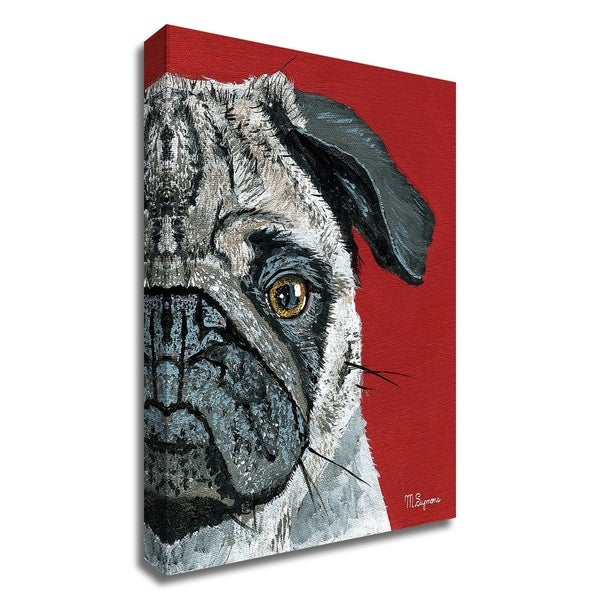 """""""Pug a Boo"""" by Melissa Symons, Print on Canvas, Ready to Hang"""