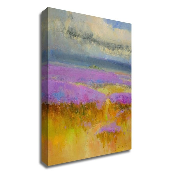 """""""Field of Lavenders 1"""" by Vahe Yeremyan, Print on Canvas, Ready to Hang"""
