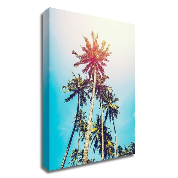 """""""Palms in the Sun"""" by Tai Prints, Print on Canvas, Ready to Hang"""