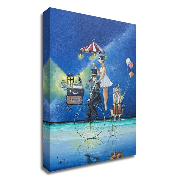 """""""The Circus Is Coming to Town"""" by Ronald West, Print on Canvas, Ready to Hang"""