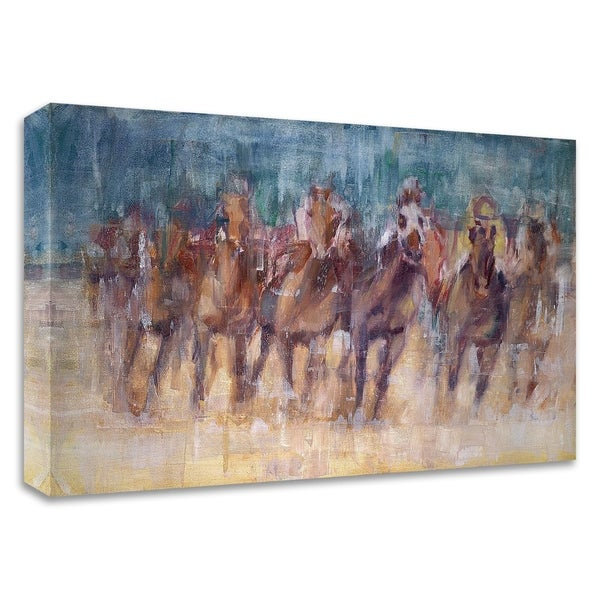 """""""Final Sprint"""" by Valtcho Tonov, Print on Canvas, Ready to Hang"""
