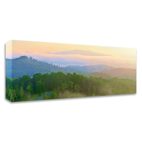 """""""Brasstown Valley Overlook"""" by Steve Vaughn, Print on Canvas, Ready to Hang - 35 x 10"""