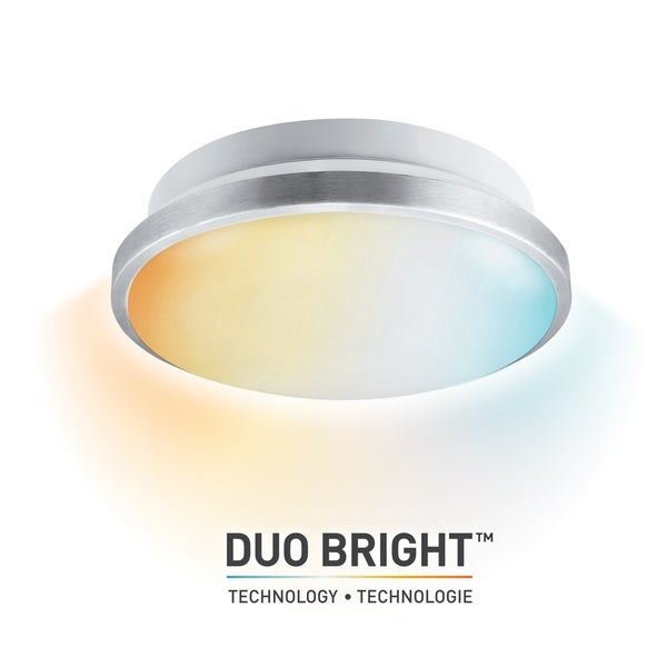 """DuoBright Technology 14"""" Integrated LED Flush Mount,Color Temp Select. Opens flyout."""