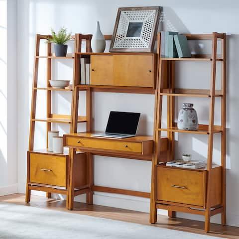 Landon 3Pc Desk & Etagere Set Acorn - Desk, 2 Small Etageres
