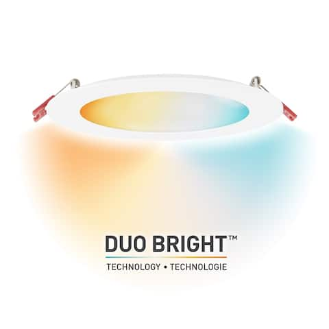 DuoBright Technology 6 in Integrated Recessed Kit w/Color Temp Select