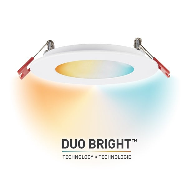 DuoBright Technology 4in Integrated Recessed Kit w/Color Temp Select. Opens flyout.