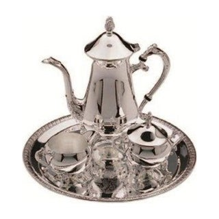 Elegance Silver Plated 4-pc Coffee Set