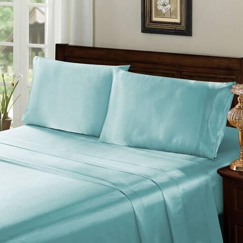 Porch & Den Remembrance Satin 4-piece Bed Sheet Set