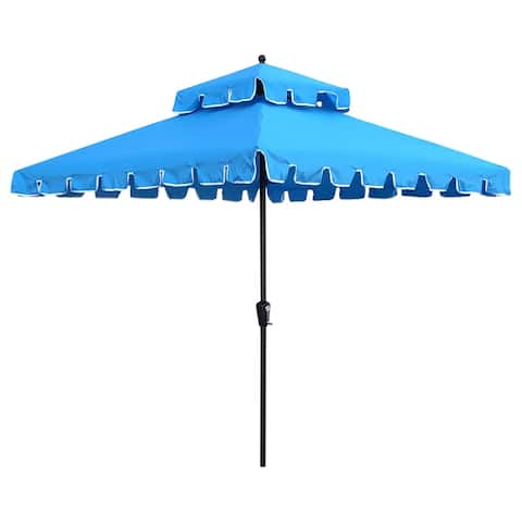 Maypex 7 Feet Square Scallop Patio Umbrella