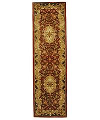 Safavieh Handmade Classic Juliette Rust/ Green Wool Rug (2'3 x 8')