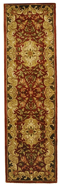 Safavieh Handmade Classic Juliette Rust/ Green Wool Runner (2'3 x 10')