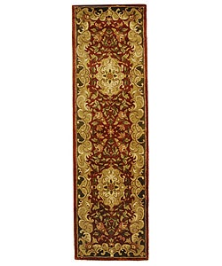 Safavieh Handmade Classic Juliette Rust/ Green Wool Runner (2'3 x 12')
