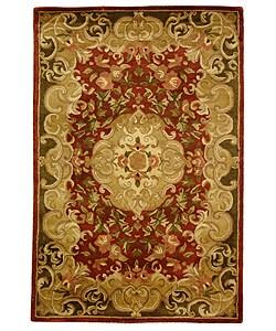 Safavieh Handmade Classic Juliette Rust/ Green Wool Rug (4' x 6')