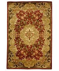Safavieh Handmade Classic Juliette Rust/ Green Wool Rug - 4' x 6'