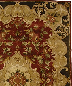 Safavieh Handmade Classic Juliette Rust/ Green Wool Rug (6' x 9') - Thumbnail 1