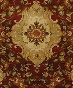 Safavieh Handmade Classic Juliette Rust/ Green Wool Rug (6' x 9') - Thumbnail 2