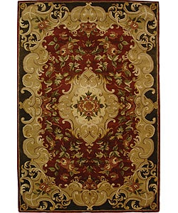 Safavieh Handmade Classic Juliette Rust/ Green Wool Rug - 6' x 9' - Thumbnail 0