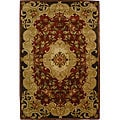 Safavieh Handmade Classic Juliette Rust/ Green Wool Rug - 6' x 9'