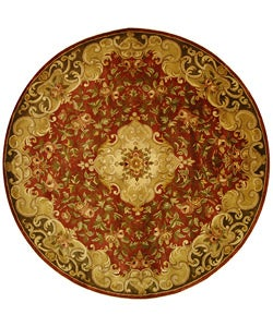 Safavieh Handmade Classic Juliette Rust/ Green Wool Rug (8' Round)