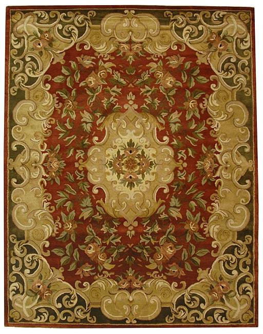 Safavieh Handmade Classic Juliette Rust/ Green Wool Rug - 9'6 x 13'6