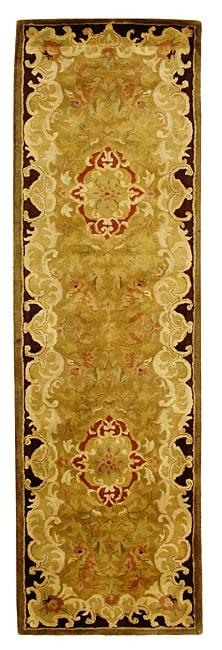 Safavieh Handmade Classic Juliette Gold Wool Rug (2'3 x 8')