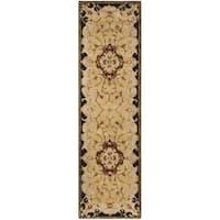 Safavieh Handmade Classic Juliette Gold Wool Runner Rug - 2'3 x 10'