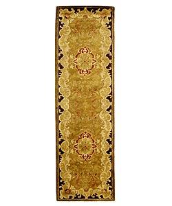 Safavieh Handmade Classic Juliette Gold Wool Runner (2'3 x 12')