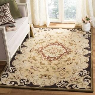 Safavieh Handmade Classic Juliette Gold Wool Rug (3' x 5')