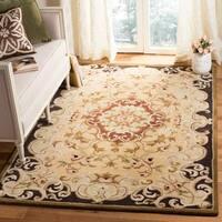 Safavieh Handmade Classic Juliette Gold Wool Rug - 4' x 6'