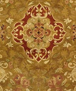 Safavieh Handmade Classic Juliette Gold Wool Rug (5' x 8')