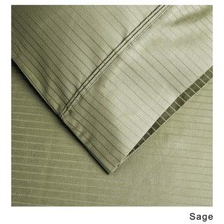 Superior 1000 Thread Count Deep Pocket Stripe Cotton Sateen Sheet Set