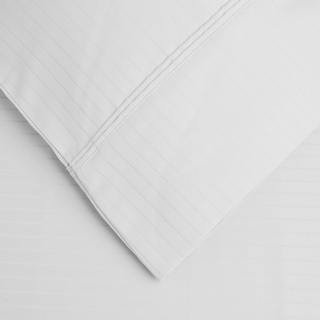 1000 TC Top Quality Bedding Collection 100/%Cotton Select Item White Striped