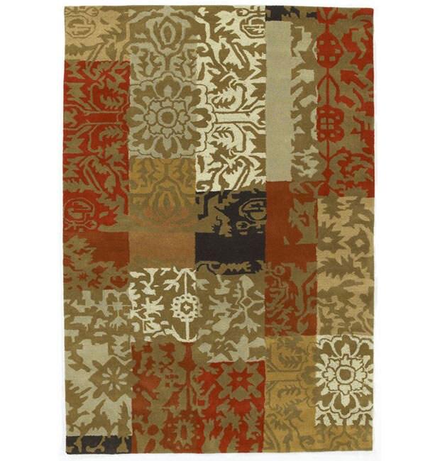 Hand-tufted Tran Flower Wool Rug - 5' x 8'