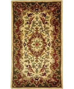 Safavieh Handmade Classic Juliette Ivory/ Green Wool Runner (2'3 x 4')