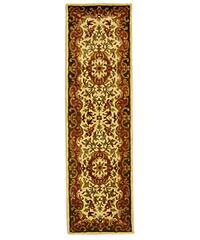 Safavieh Handmade Classic Juliette Ivory/ Green Wool Runner Rug - 2'3 x 8'